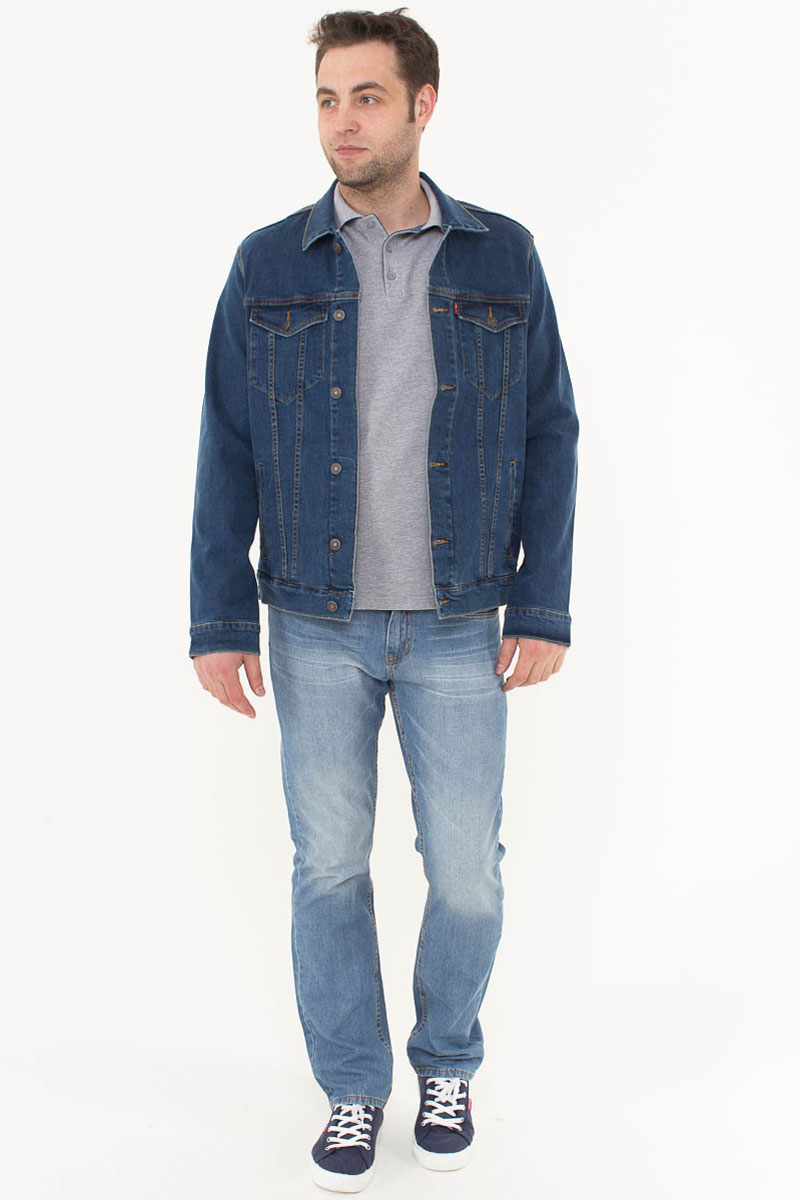 Куртка джинсовая мужская F5, цвет: синий. 175057_06424. Размер XL (52)175057_06424, Blue denim, w.mediumМужская джинсовая куртка F5 выполнена из высококачественного материала. Куртка имеет прямой стандартный покрой. Модель с отложным воротником и длинными рукавами застегивается на пуговицы. Спереди расположены два кармана с клапанами на пуговицах.