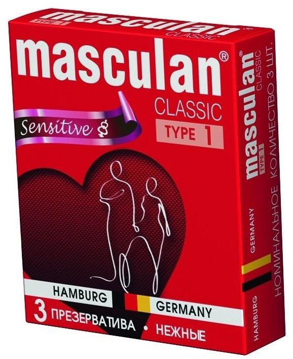 Masculan Презервативы 1 Classic №3, нежные пульсаторы baile indu