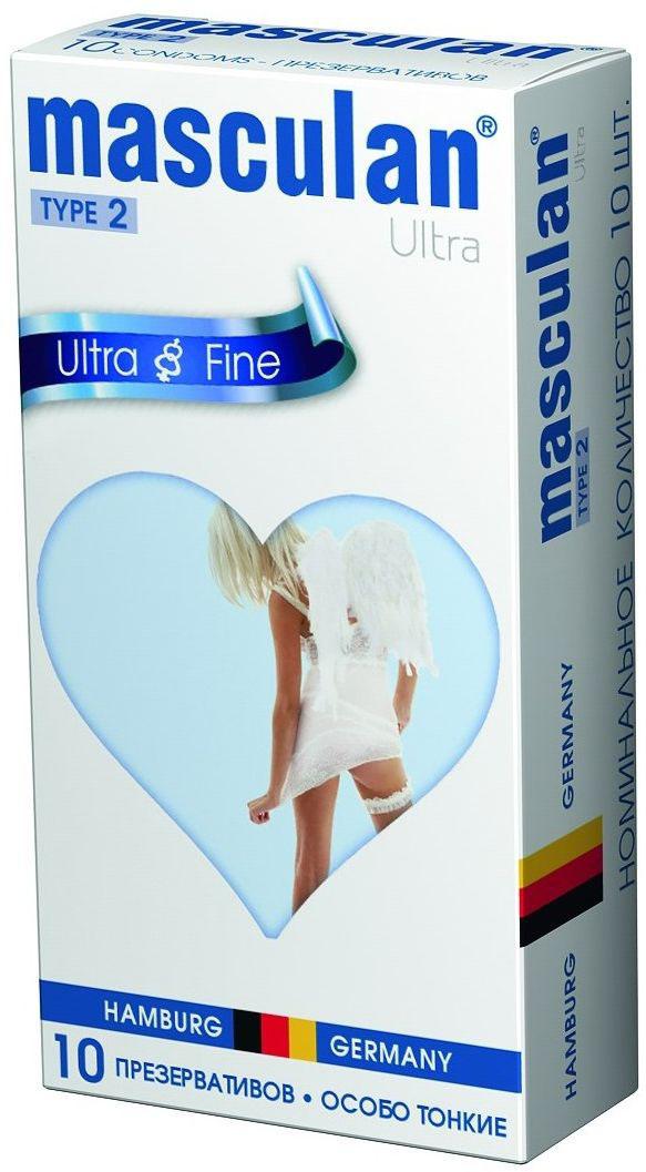 Masculan Презервативы 2 Ultra №10, особо тонкий, прозрачный с обильной смазкой masculan ultra fine презервативы ультратонкие с обильной смазкой