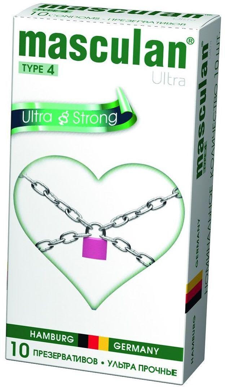 Masculan Презервативы 4 Ultra №10, ультрапрочные анальные пробки 2 шт розовый