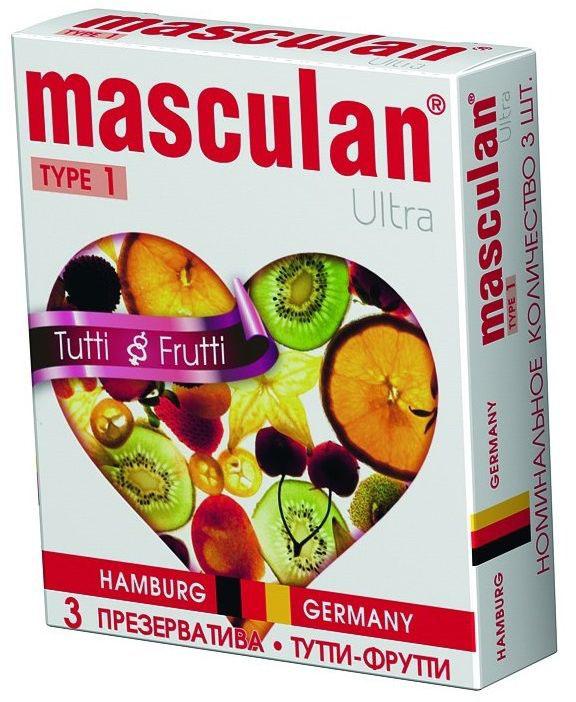 Masculan Презервативы 1 Ultra №3, с ароматом Тутти-фрутти