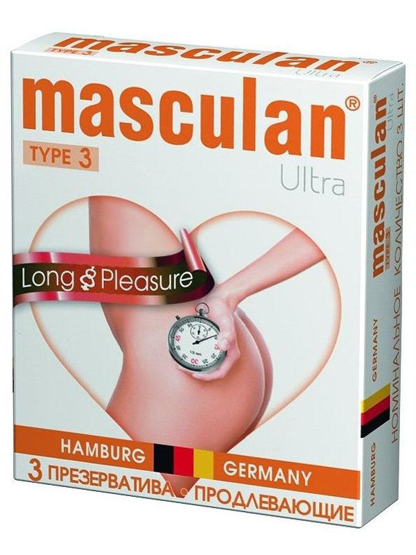 Masculan Презервативы 3 Ultra №3, с анестетиком для продления ощущений, с колечками и пупырышками