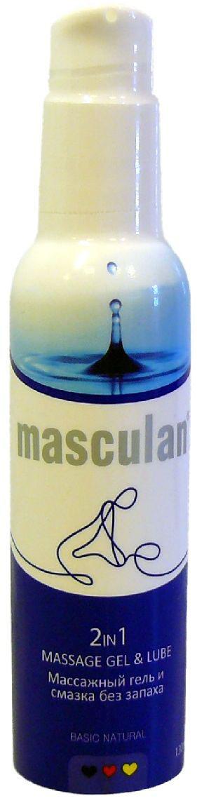 Маскулан Гель и смазка, без запаха, с дозатором, 2 в 1, 130 мл