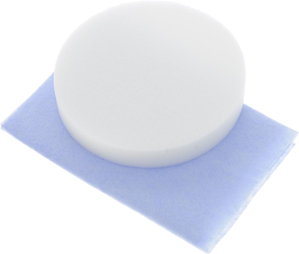 Набор салфеток для полировки автомобиля Runway, цвет: голубой, белый, 2 штRW646_голубой, белыйНабор салфеток для полировки автомобиля Runway состоит из вискозной салфетки и губки. Набор прекрасно полирует автомобиль. Для нанесения полироли используйте вискозную салфетку. Небольшое количество полироли выдавите не салфетку и равномерно нанесите на лакокрасочное покрытие автомобиля. Окончательно располируйте нанесенную полироль губкой. Набор подходит для многократного применения.Размер салфетки: 30 х 30 см.Диаметр губки: 12 см.