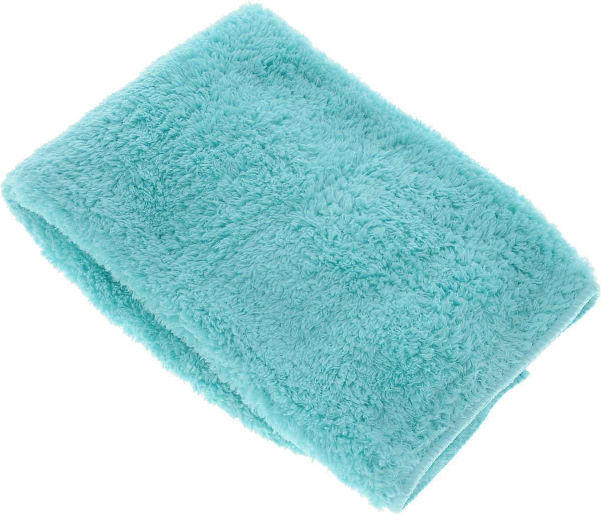 Салфетка чистящая Sapfire, для мытья и полировки автомобиля, цвет: бирюзовый, 40 х 40 см тени для век essence my must haves eyeshadow 04 цвет 04 brownie licious variant hex name 7b4619
