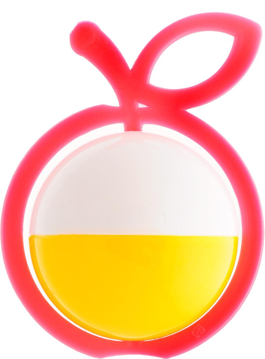 Аэлита Погремушка Яблоко цвет коралловый белый желтый