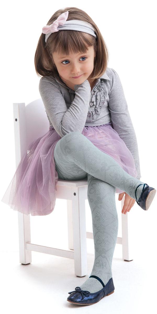 Колготки для девочки Knittex, цвет: бледно-серый. Amira. Размер 140/146AmiraКолготки для девочки Knittex выполнены из комбинированного материала. Эластичные швы и мягкая резинка на поясе не позволят колготкам сползать и при этом не будут стеснять движений.