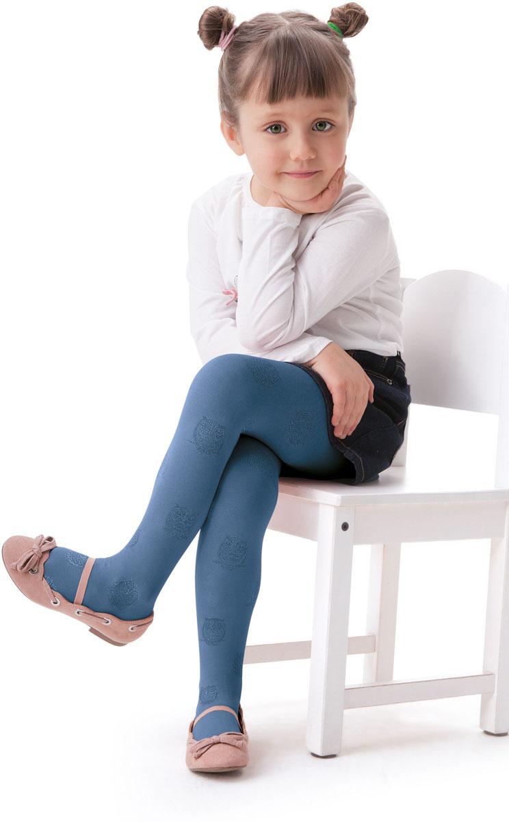 Колготки для девочки Knittex, цвет: серо-синий. Gufo. Размер 104/110GufoКолготки для девочки Knittex выполнены из комбинированного материала. Эластичные швы и мягкая резинка на поясе не позволят колготкам сползать и при этом не будут стеснять движений.