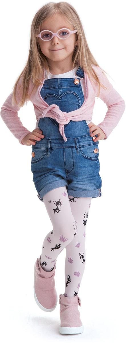 Колготки для девочки Knittex, цвет: белый. Sisi. Размер 116/122SisiКолготки для девочки Knittex выполнены из комбинированного материала. Эластичные швы и мягкая резинка на поясе не позволят колготкам сползать и при этом не будут стеснять движений.