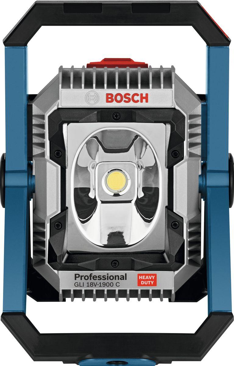 Прожектор аккумуляторный Bosch GLI 18V-1900, без аккумулятора и зарядного устройства0601446400Аккумуляторный фонарь Bosch GLI 18V-1900 - осветительный прибор прожекторного типа. Угол наклона корпуса составляет 120 градусов. Изделие совместимо со штативом 5/8. Фонарь такого типа служит для равномерного освещения помещений большой площади.Аккумулятор и зарядное устройство в комплект поставки не входят.Характеристики:- напряжение питания: 18 В,- тип: профессиональный,- материал корпуса: металл+пластик, - источник света: светодиод,- питание: аккумулятор,
