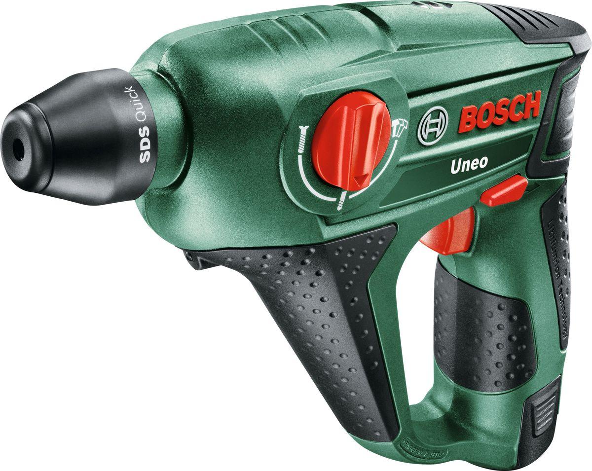 Перфоратор Bosch Uneo 12, аккумуляторный. 0603984027 аккумуляторный перфоратор bosch gbh 180 li 4 0ач x2 0611911023