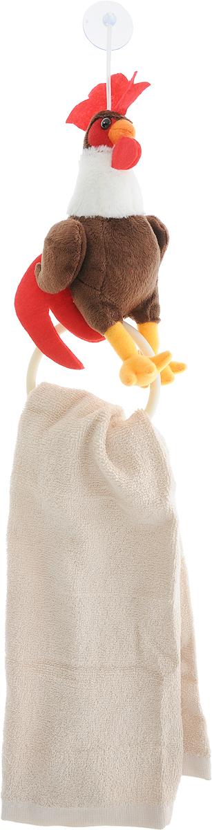 """Махровое кухонное полотенце Cherir """"Петушок"""" изготовлено из  100% хлопка. Изделие отлично впитывает влагу, не требует  особого ухода, не теряет своего внешнего вида даже после  многочисленных стирок. Ткань отличается прочностью и  долговечностью. В комплекте поставляется мягкая игрушка в  виде петушка с круглым держателем. Петушок крепится к  поверхности с помощью присоски. Такое полотенце украсит  вашу кухню и станет приятным подарком для близких.  Размер держателя: 10 х 7 х 21 см."""