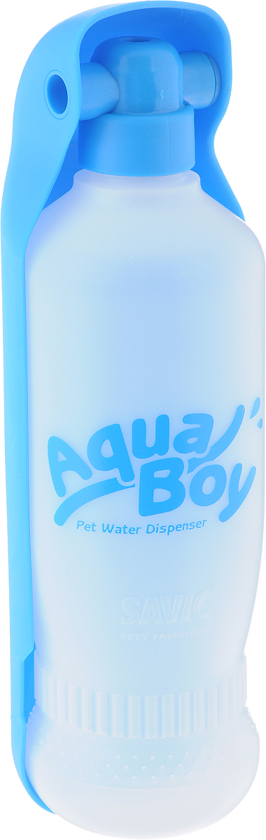 Поилка для собак Savic  Aqua Boy , цвет: голубой, белый, 550 мл