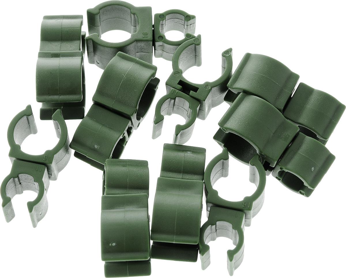 Соединители для опор Garden Show, диаметр 11/16 мм, 10 шт466374Соединители для опор Garden Show изготовлены из пластика. Набор предназначен для соединения между собой цветочных опор.Диаметр соединителя: 11/16 мм.В комплекте: 10 соединителей.