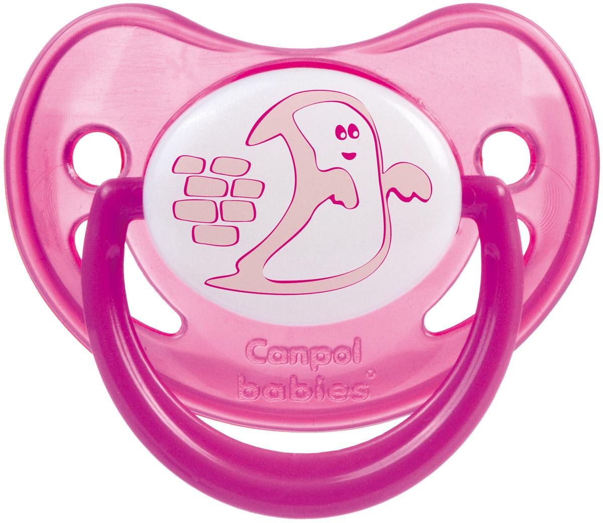 Canpol Babies Пустышка силиконовая Night Dreams от 6 до 18 месяцев цвет розовый