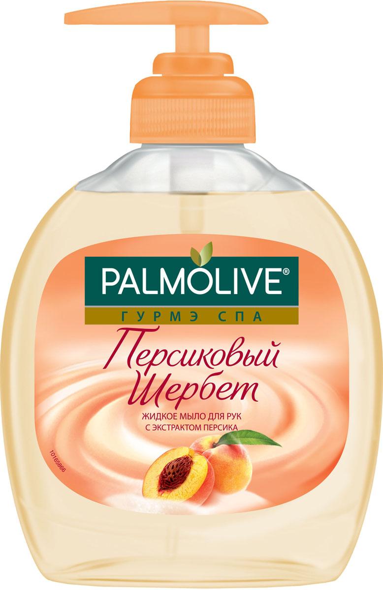 Palmolive Жидкое мыло Персиковый щербет с экстрактом персика, 300 мл palmolive крем гель для душа гурмэ спа персиковый шербет с экстрактом персика 250 мл