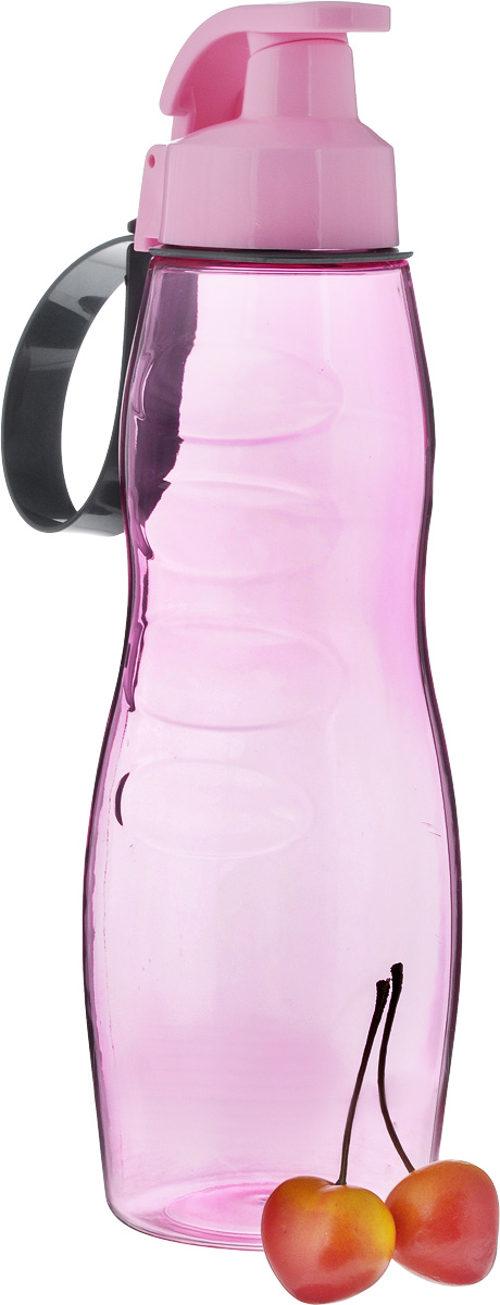 """Стильная бутылка для воды """"Herevin"""" изготовлена из пластмассы.Носик бутылки закрывается клапаном, благодаря чему содержимое бутылки не прольется и дольше останется свежим. Удобная бутылка пригодится как на тренировках, так и в походах или просто на прогулке.Высота бутылки: 26 см.Диаметр горлышка: 4 см.  Как повысить эффективность тренировок с помощью спортивного питания? Статья OZON Гид"""