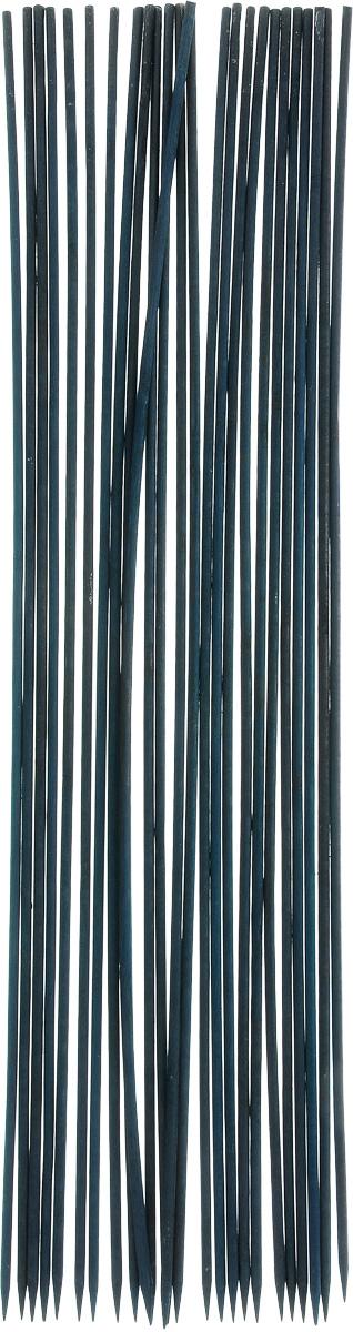 Опора для растений Garden Show, цвет: темно-зеленый, диаметр 0,5 см, длина 60 см, 25 шт зажим для крепления пленки к каркасу парника garden show диаметр 20 мм 10 шт