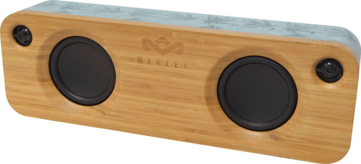 House of Marley Get Together BT, Blue Hemp портативная акустическая системаEM-JA006-BH-WWАкустическая система House of Marley Get Together BT - это удачное сочетание внешнего вида и функциональности. Bluetooth, AUX-вход, встроенный аккумулятор и малые размеры позволят вам наслаждаться превосходным звучанием этой аудиосистемы как дома так и вне его.В стереосистеме используются два мощных низкочастотных динамика диаметром 3.5 (89 мм), два высокочастотных динамика диаметром 1 (25 мм) и мощный усилитель — все это в портативном корпусе.В качестве материала для изготовления передней и задней секций корпуса системы применялось измельченное бамбуковое волокно. Сами секции обтянуты тканью Rewind, выполненной из переработанной пеньки, органической хлопчатобумажной ткани, а также пластиковых бутылок, прошедших повторную обработку.Как выбрать портативную колонку. Статья OZON Гид
