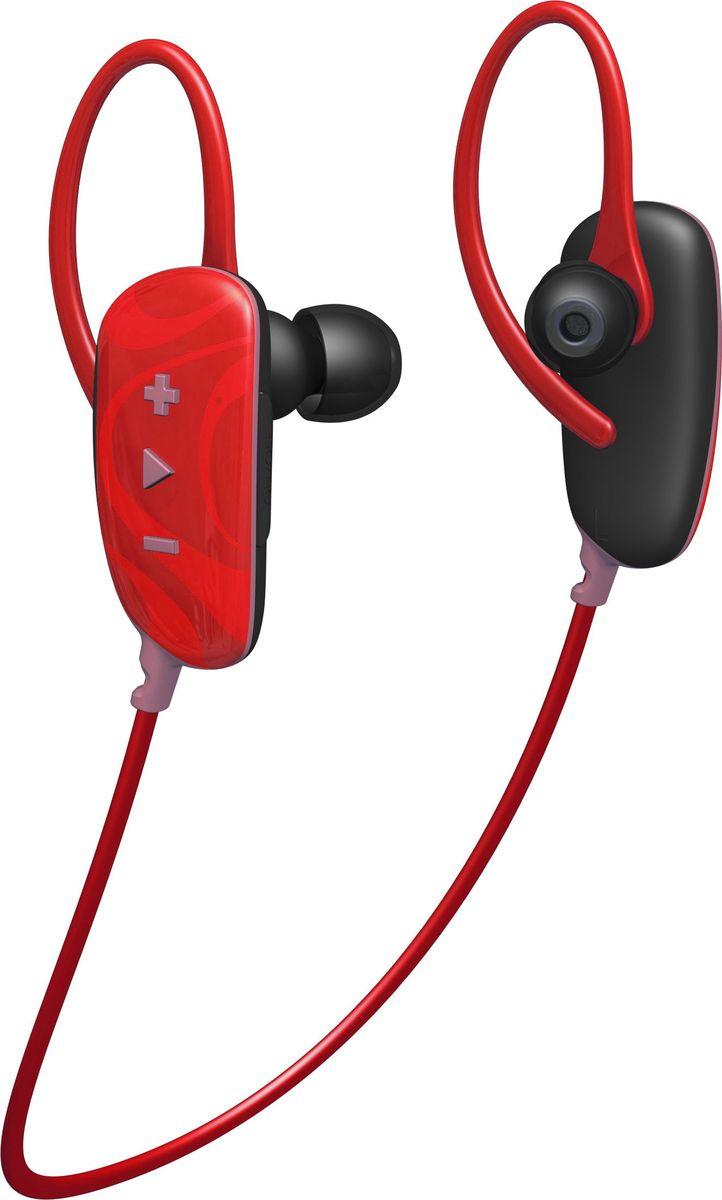 Jam Fusion Buds беспроводные наушники, RedHX-EP255RD-EUСпортивные Bluetooth наушники Jam Fusion будут радовать вас не только во время тренировок, но и на ежедневных прогулках.Автономная работа при полностью заряженном аккумуляторе позволит вам до 6 часов непрерывно наслаждаться вашими любимыми композициями.Встроенный микрофон и удобное управление на правом корпусе наушников позволяют переключать музыку и отвечать на звонки, не отвлекаясь от выполнения упражнений.Высокая степень защиты класса IPX4 будет служить защитой вашим наушникам от воздействия пота и влаги.