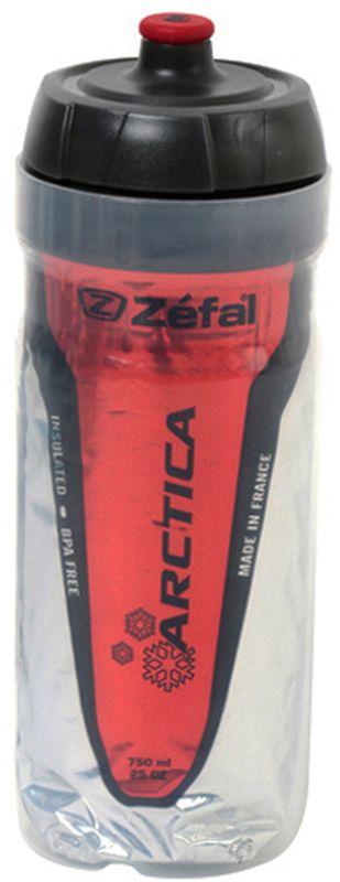 Фляга велосипедная Zefal Arctica 75, изотермическая, цвет: красный, 750 мл фляга велосипедная zefal premier 60 цвет синий белый 600 мл
