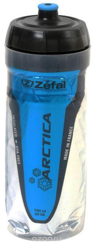 Фляга велосипедная Zefal Arctica 75, изотермическая, цвет: синий, 750 мл фляга велосипедная zefal premier 60 цвет синий белый 600 мл