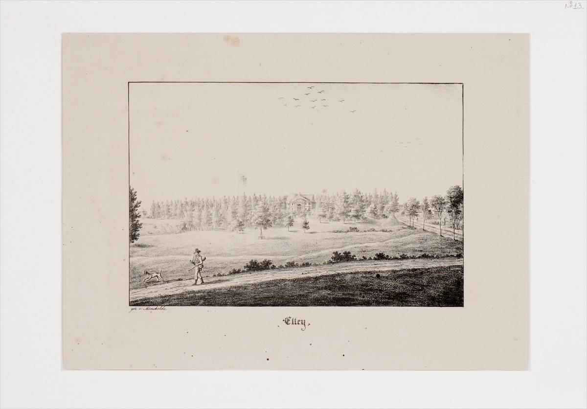 Elley. Литография. Германия, начало XIX века