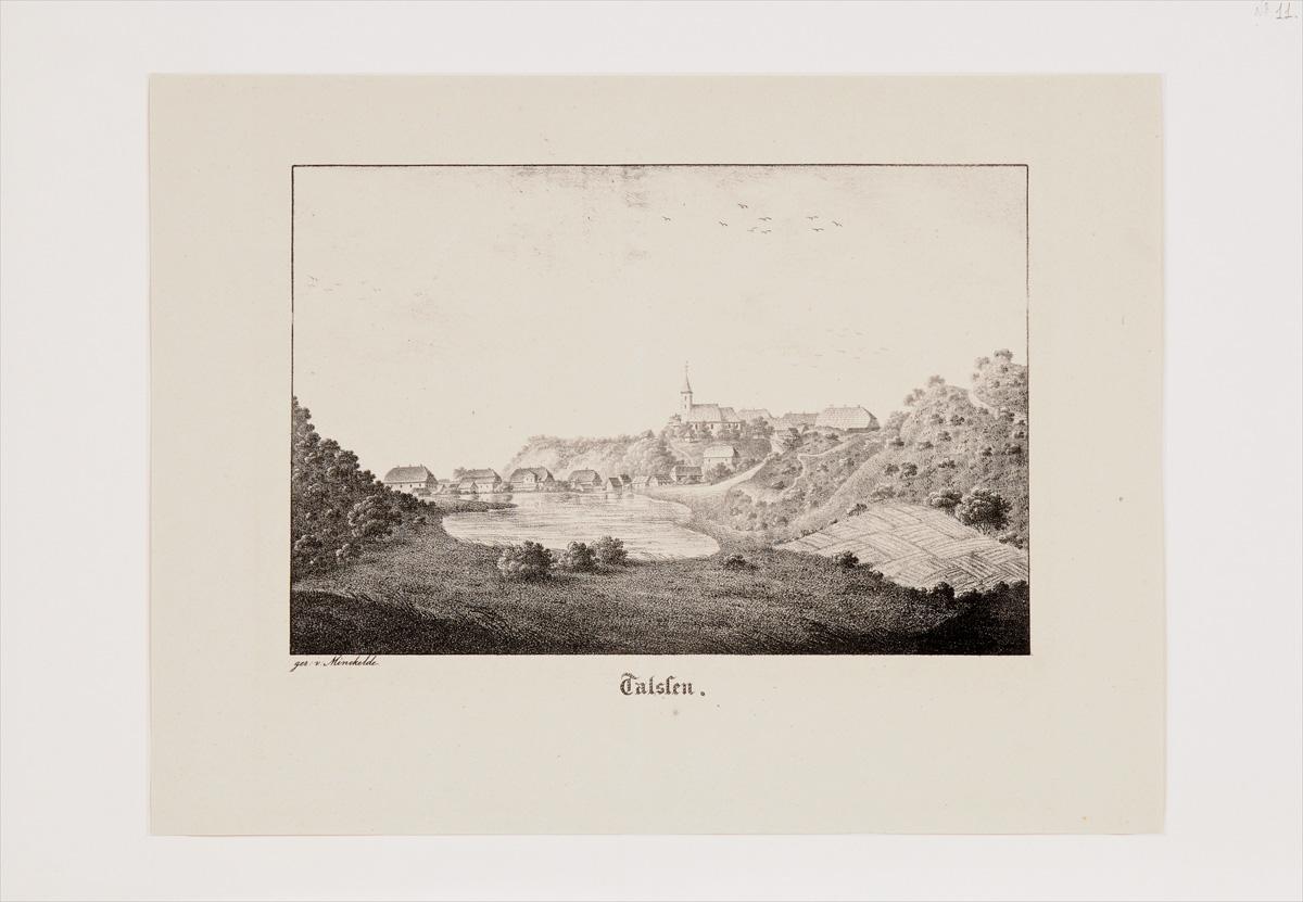 Talssen. Литография. Германия, начало XIX века