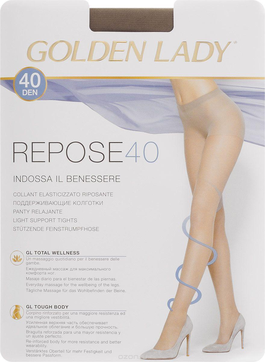 Колготки женские Golden Lady Repose 40, цвет: черный. SNL-005709. Размер 4Repose 40_NeroЭластичные колготки Golden Lady Repose 40 с поддерживающим эффектом, удобными швами и гигиеничной ластовицей.
