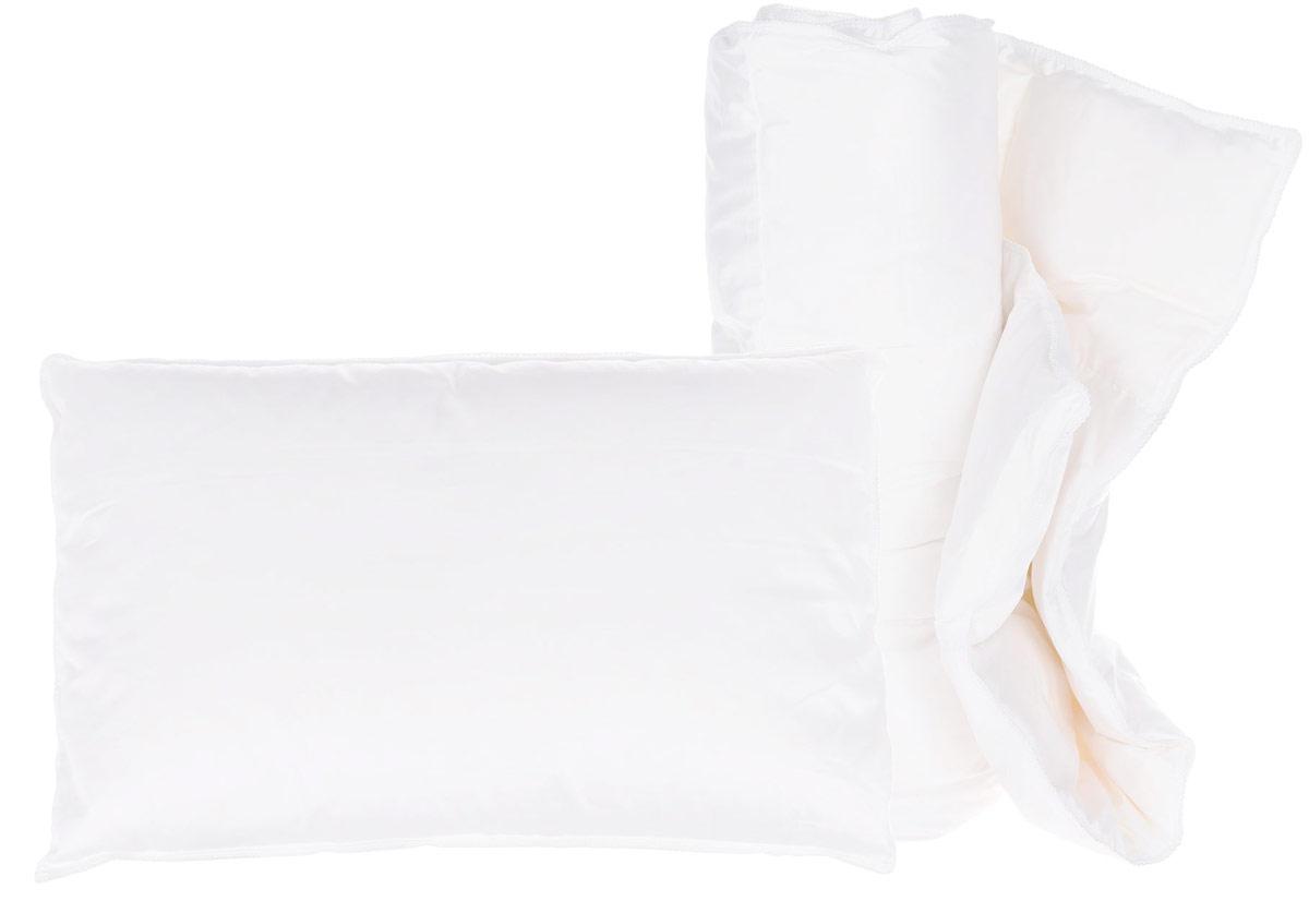 German Grass Комплект в кроватку Baby Snow Grass 2 предмета BSK-115-ПРBSK-115-ПРРоскошный комплект в детскую кроватку настоящего европейского качества для маленьких неженок. Комплект для новорожденных Baby Snow Grass состоит из низкой детской подушки размером и одеяла. Возраст с рождения.Наполнитель: 100% гусиный белый пух, отсортированный вручную, отборное качество. Легчайший отборный пух дополнительно обработан для придания еще большей чистоты наполнителя. Сатиновый чехол из волокна Tencel белоснежного цвета служит барьером для проникновения пыли и пылевых клещей внутрь постельных принадлежностей. Изделия украшены витым белым кантом.