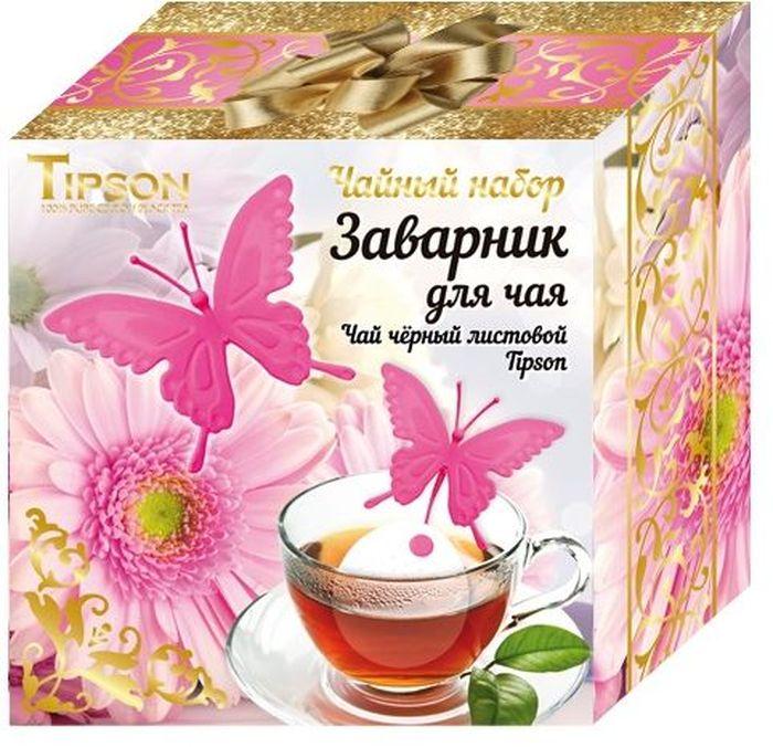 Tipson Розовая Бабочка подарочный набор черный чай Ceylon №1 и ситечко для чая, 85 г10114-00Черный цейлонский чай Ceylon №1 OPA - гармоничный баланс между силой вкуса и элегантностью аромата. Силиконовый заварник-ситечко с креплением на чашку в форме бабочки станет прекрасным и дополнением к любому чаепитию.Всё о чае: сорта, факты, советы по выбору и употреблению. Статья OZON Гид