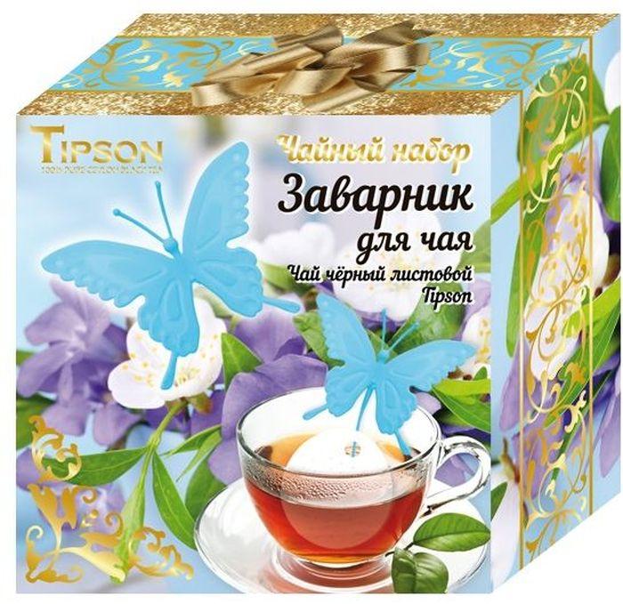 Tipson Голубая Бабочка подарочный набор черный чай Ceylon №1 и ситечко для чая, 85 г10115-00Черный цейлонский чай Ceylon №1 OPA - гармоничный баланс между силой вкуса и элегантностью аромата. Силиконовый заварник-ситечко с креплением на чашку в форме бабочки станет прекрасным и дополнением к любому чаепитию.