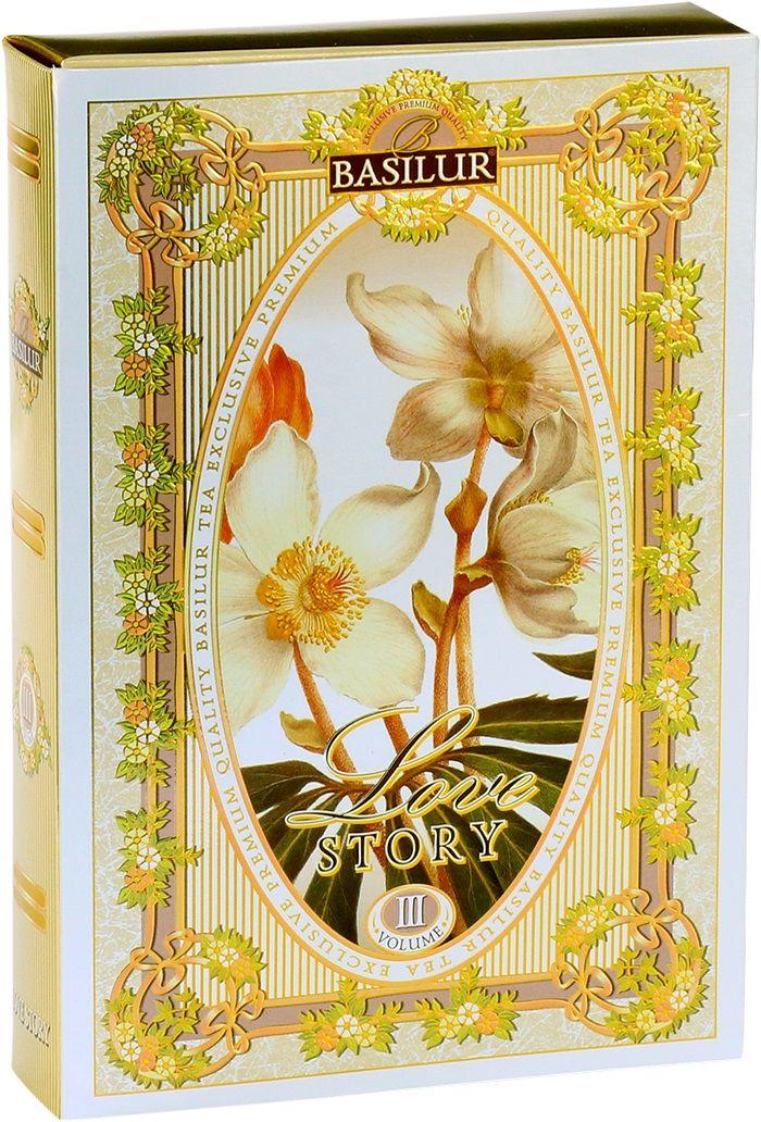 Basilur Чайная книга. История Любви. Том III зеленый листовой чай, 75 г чай basilur basilur чайная шкатулка павлония