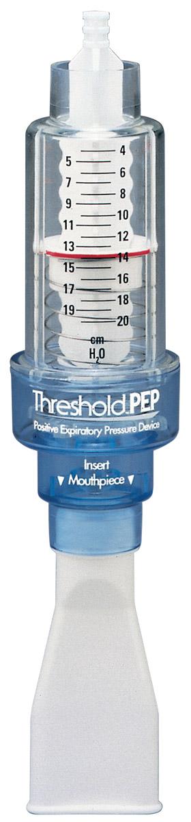 Philips Threshold PEP HH1333/00 дыхательный тренажерHS735EU-001Threshold PEP используется для очистки дыхательных путей, бронхиальной гигиены, а также в качестве альтернативы физиотерапии при заболеваниях легких. Сопротивление потоку, возникающее при выдохе через устройство, приводит к созданию положительного давления, которое способствует раскрытию дыхательных путей и отхождению мокроты при отхаркивании.Проточный клапан, действие которого не зависит от силы потока, подходит для всех пациентов. Использование устройства Threshold PEP помогает дышать более свободно. Оно улучшает отхождение мокроты и предотвращает ее накопление.При использовании совместно с ингаляторами или спейсерами для введения лекарственных средств Threshold PEP улучшает эффективность дыхания. Тренировки с сопротивлением улучшают функцию центральных и периферических дыхательных путей.Работает в любом положении, обеспечивая эффективную терапию. Постоянное давление устраняет необходимость в использовании датчика давления. Возможность использования с мундштуком/маской повышает удобство. Threshold PEP сделано из износоустойчивого ударопрочного акрилового материала.