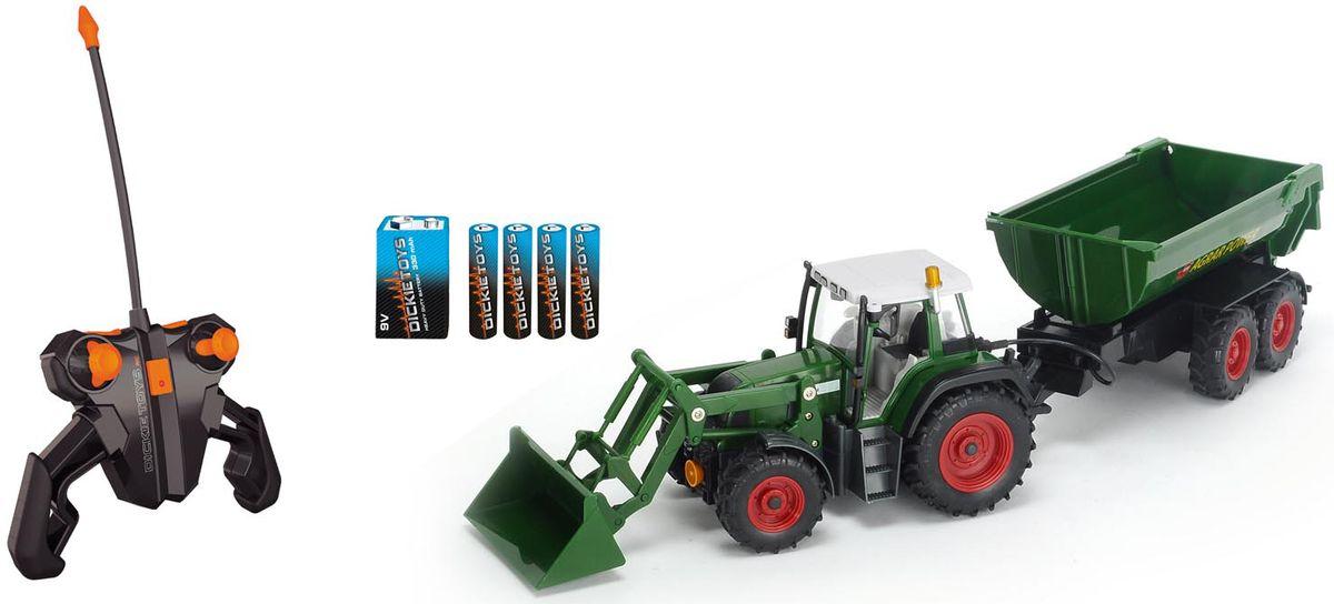 Dickie Toys Трактор на радуиоуправлении с прицепом dickie toys dickie toys трактор fendt с прицепом
