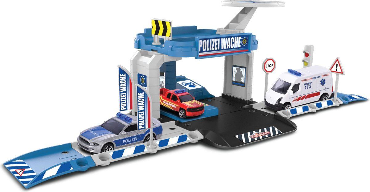 Majorette Парковка Creatix Полиция с машинкой