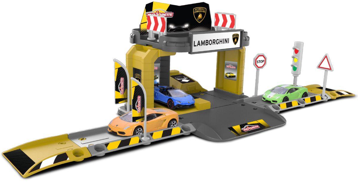 Majorette Парковка Creatix Lamborghini с машинкой