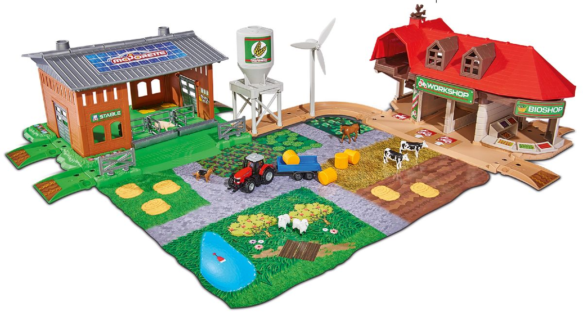 Majorette Игровой набор Большая ферма Creatix с трактором schleich игровой набор большая ферма с животными и аксессуарами
