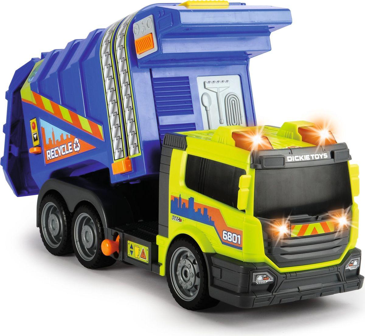 Dickie Toys Мусоровоз цвет синий желтый dickie мусоровоз 30 см