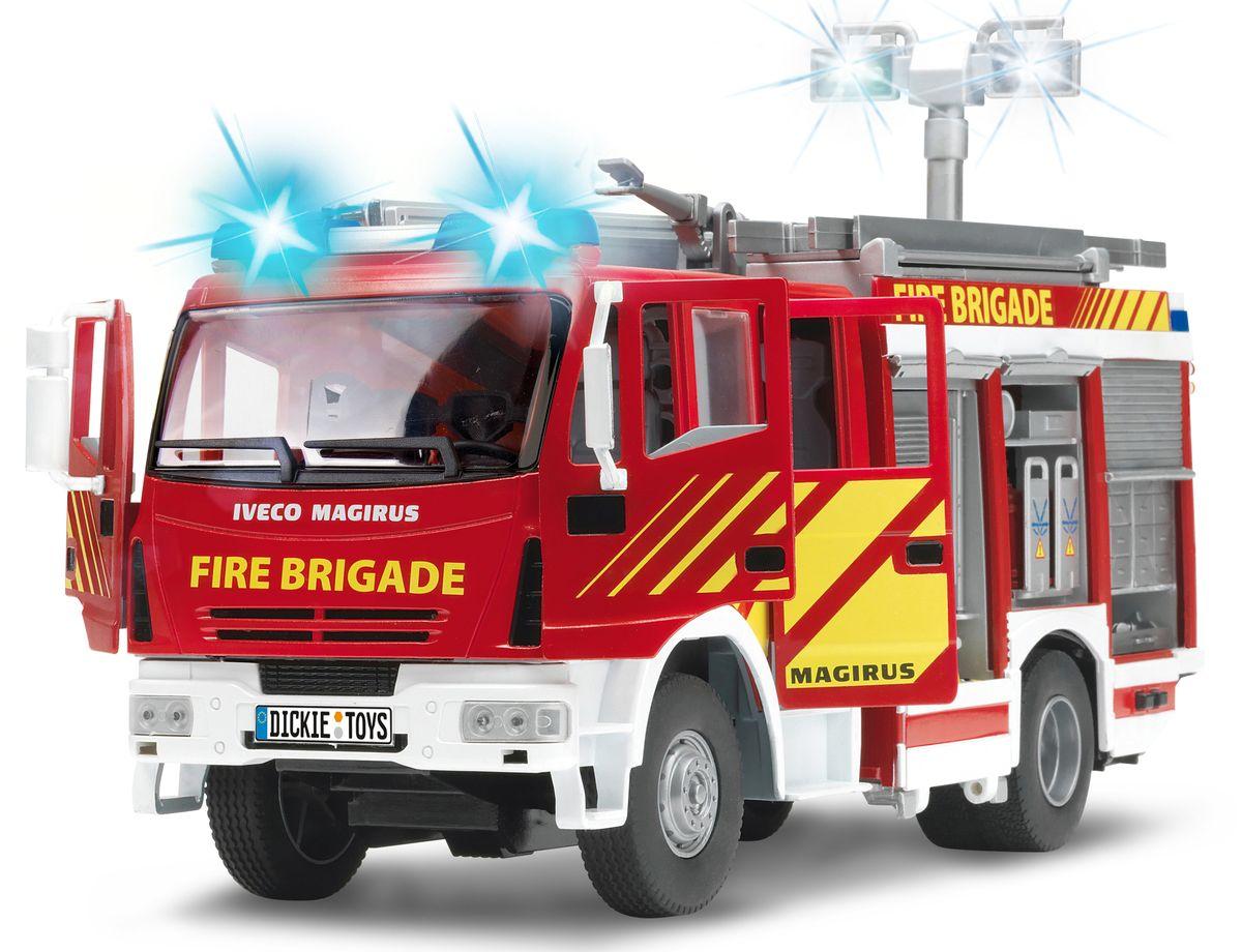 Dickie Toys Пожарная машина с водой цвет белый красный dickie toys машинка bumblebee