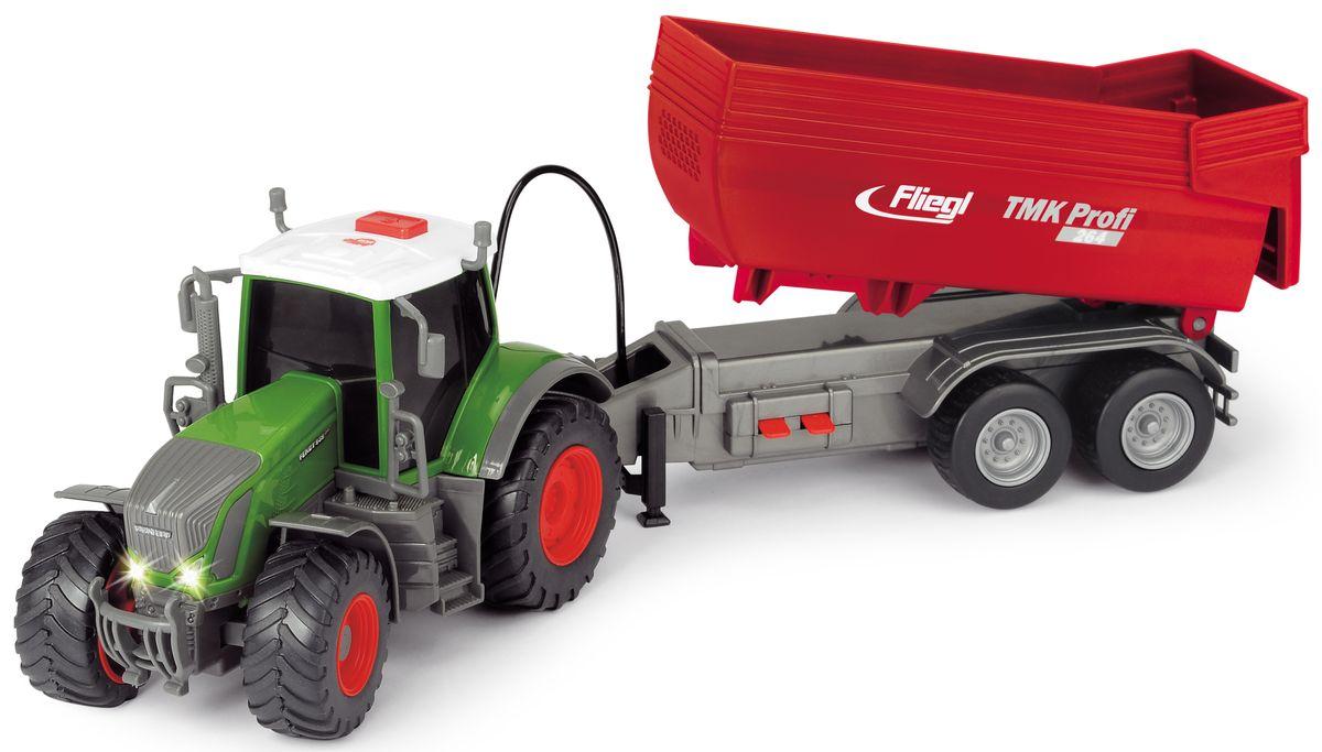 Dickie Toys Трактор Fendt с прицепом dickie toys машинка bumblebee tin box