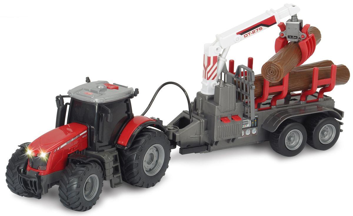 Dickie Toys Трактор Massey с прицепом dickie toys машинка bumblebee tin box