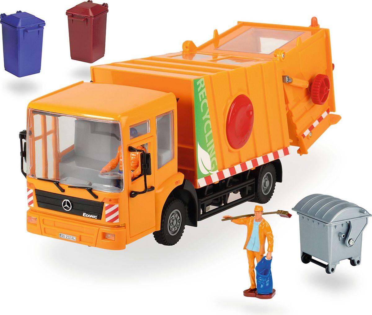 Dickie Toys Мусоровоз Mercedes dickie toys мусоровоз heavy city truck