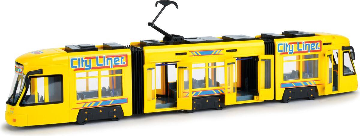 Dickie Toys Городской трамвай цвет желтый технопарк игровой набор городской транспорт маршрутное такси трамвай