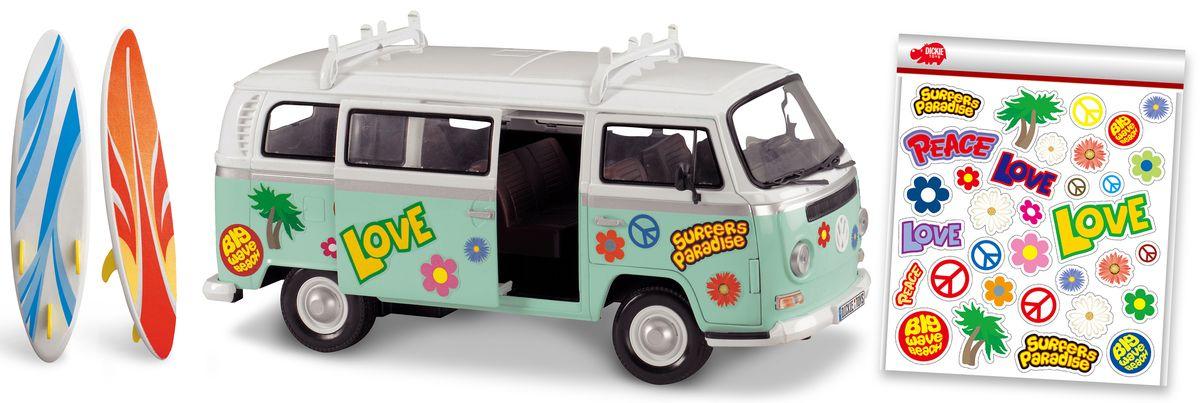 Dickie Toys Машина для серферов с наклейками dickie toys 3113001 sideswipe