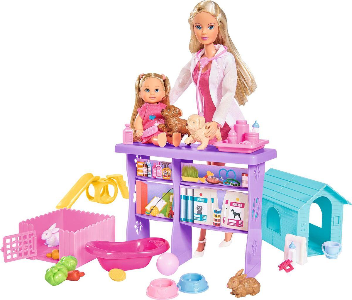 Simba Набор кукол Штеффи и Еви Мир животных simba игровой набор с мини куклой evi love fairy carriage