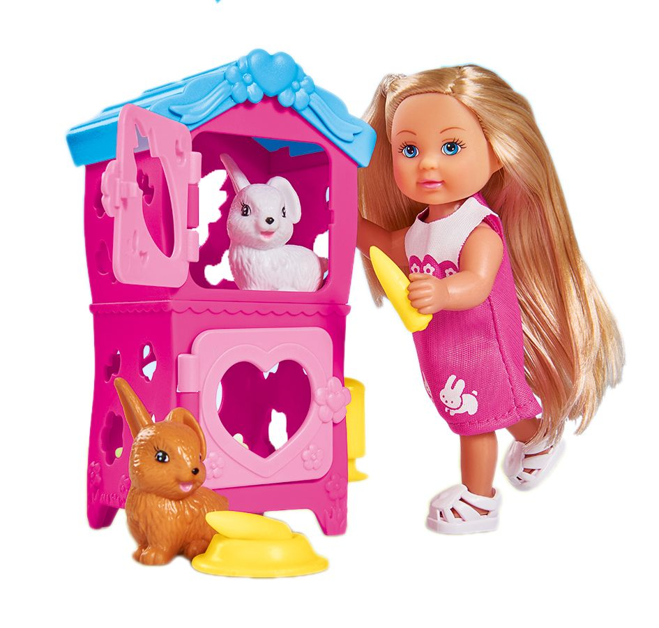 Simba Мини-кукла Еви с кроликами simba игровой набор с мини куклой evi love fairy carriage