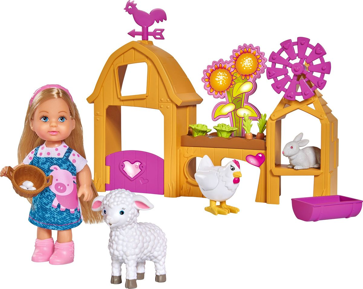 Simba Кукла Еви Счастливая ферма simba игровой набор с мини куклой evi love fairy carriage
