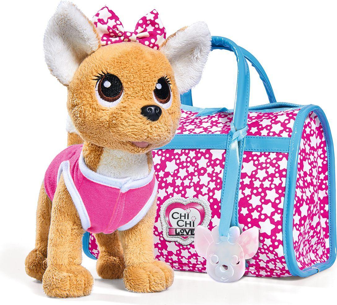 Simba Мягкая игрушка Собачка Звездный стиль с сумочкой 20 см - Мягкие игрушки