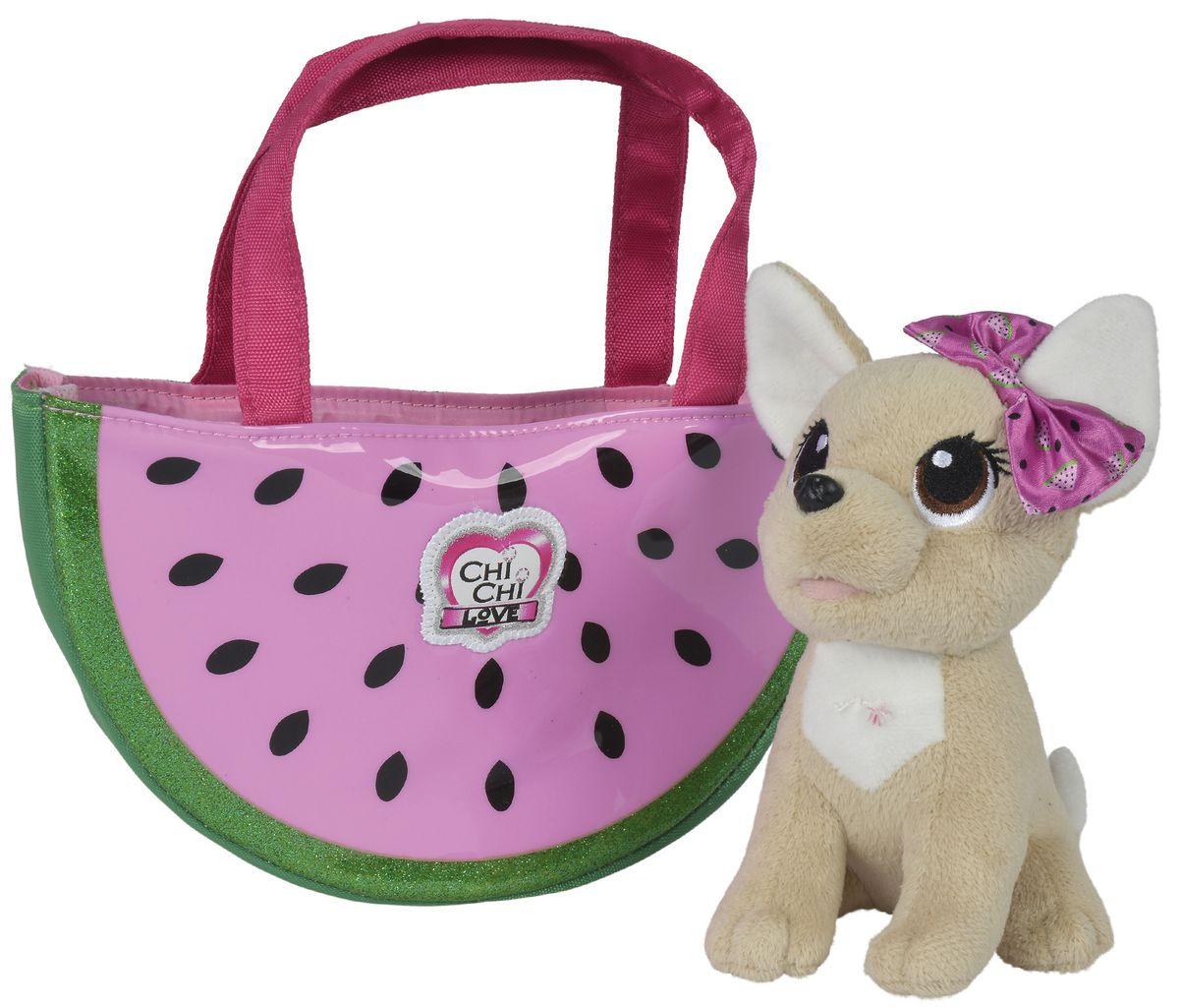 Simba Мягкая игрушка Собачка Фруктовая мода с сумочкой 18 см - Мягкие игрушки